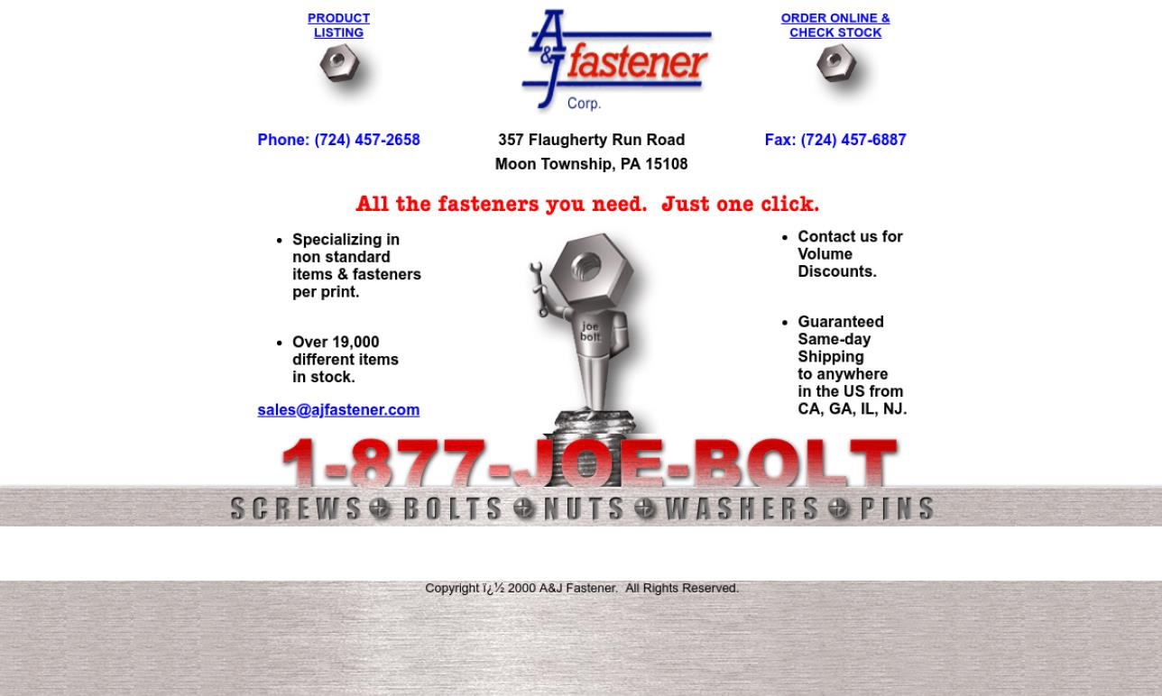 A & J Fastener Corp.
