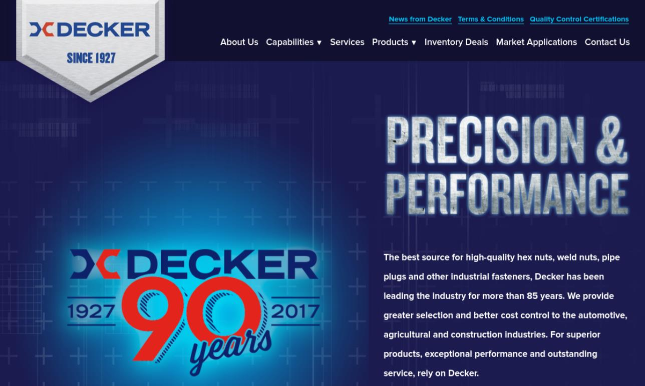 Decker Manufacturing Corporation