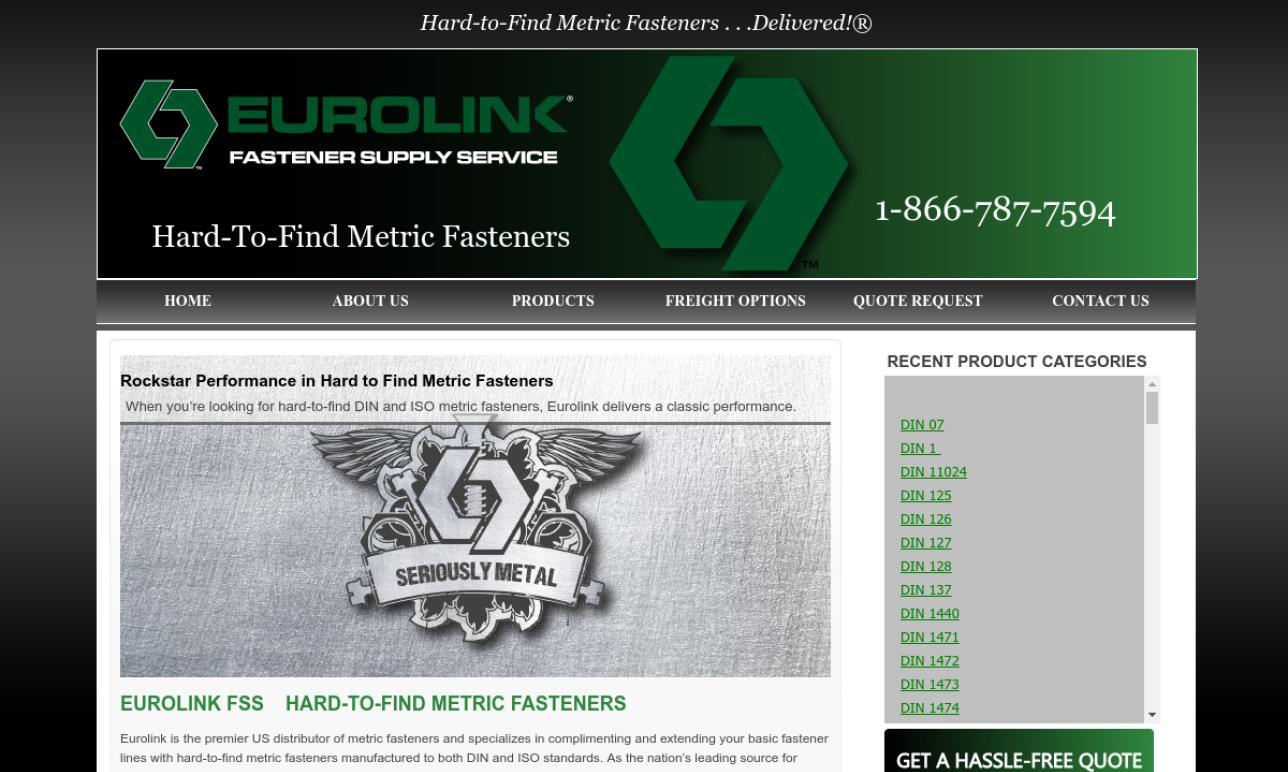 Eurolink Fastener Supply Service | Fastener Manufacturers
