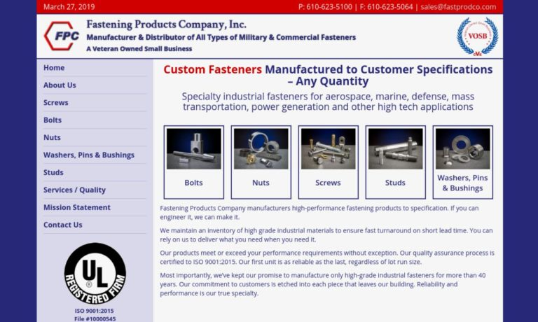 Fastening Products Company, Inc.