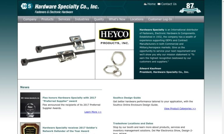 Hardware Specialty Company, Inc.