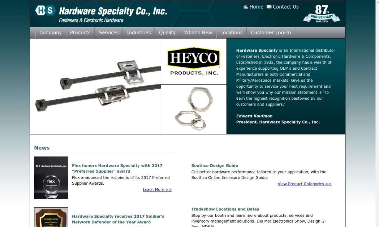 Hardware Specialty Company, Inc.