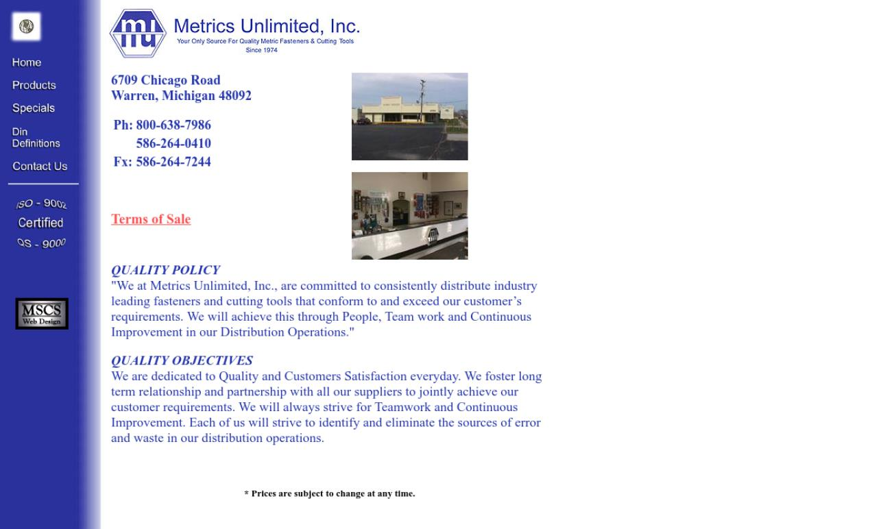 Metrics Unlimited, Inc.