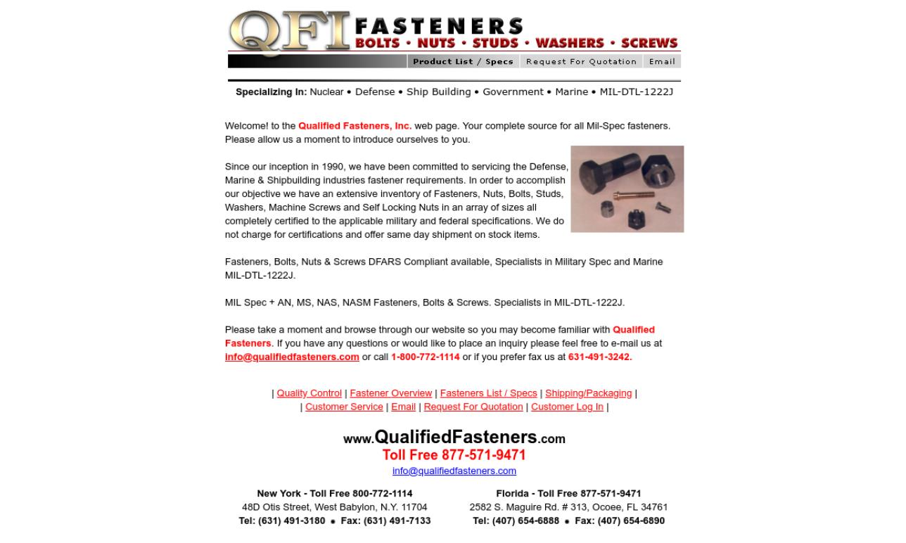 Qualified Fasteners, Inc.