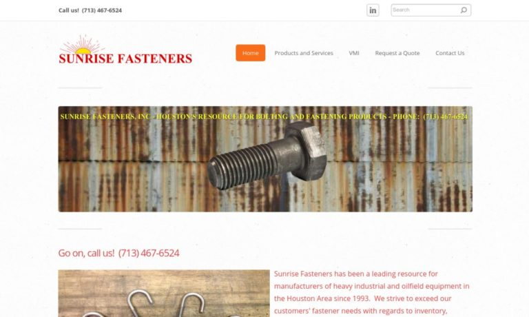 Sunrise Fasteners, Inc.