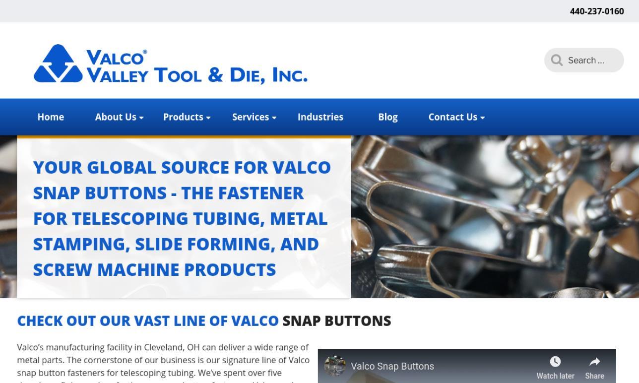 VALCO Valley Tool & Die, Inc.