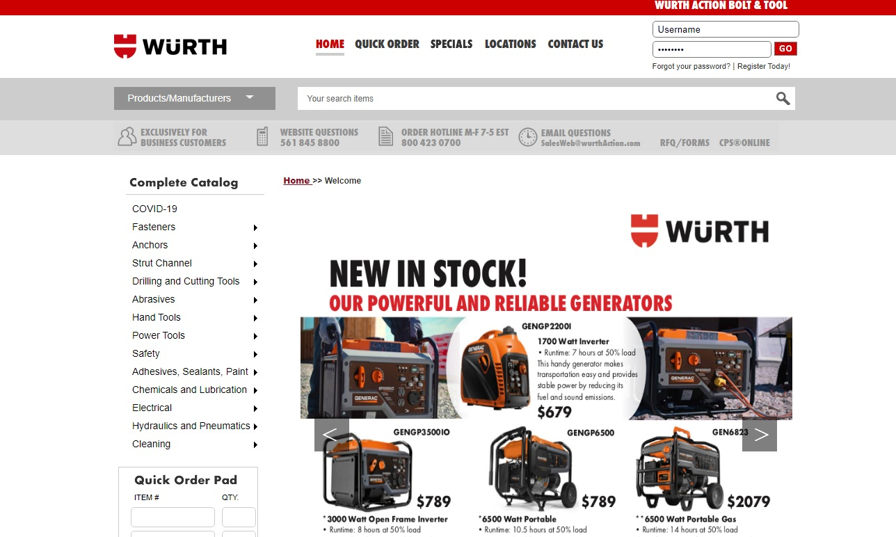 Wurth Action Bolt & Tool