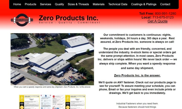 Zero Products, Inc.